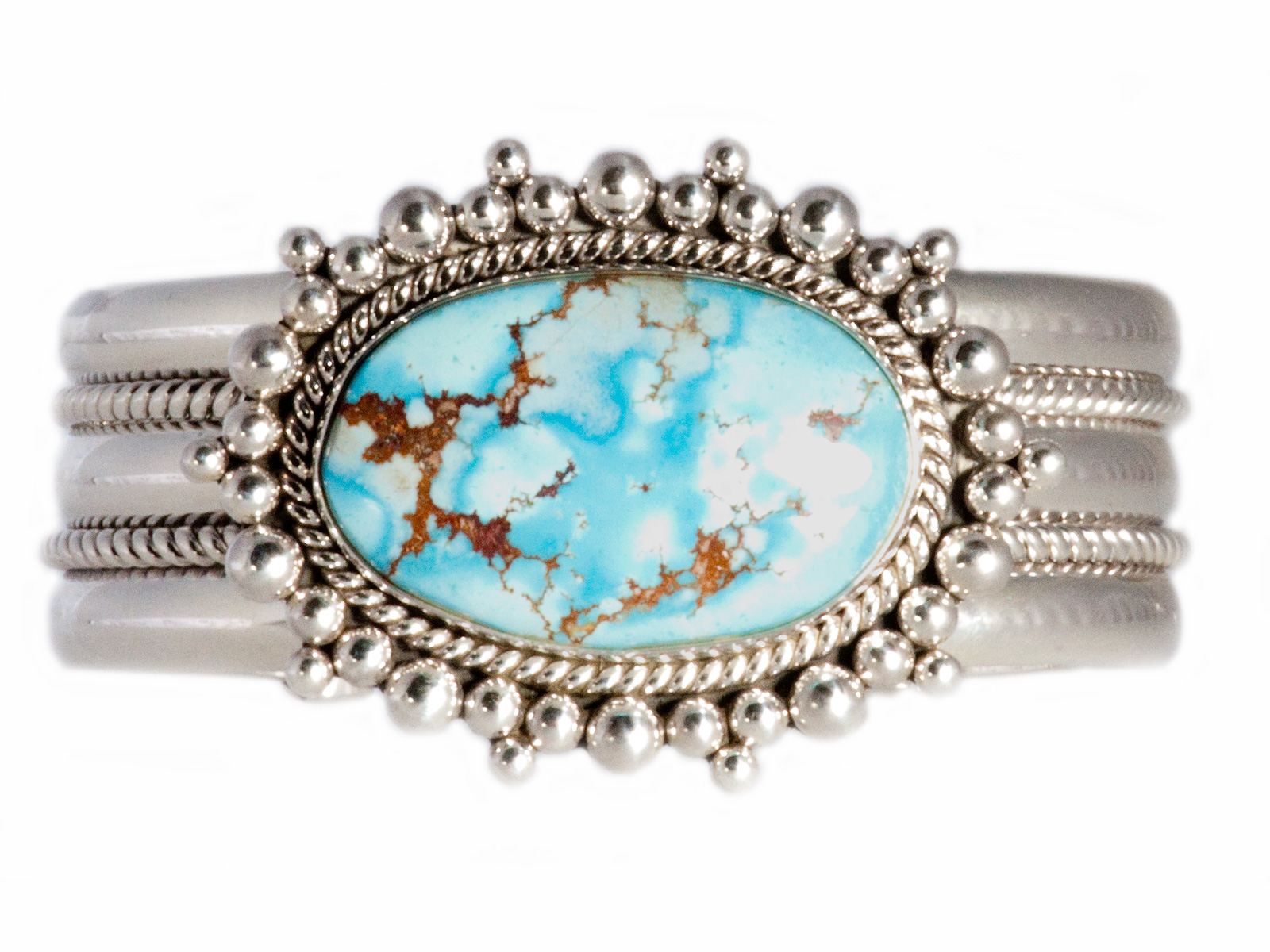 Silver Lavender Turquoise Cuff