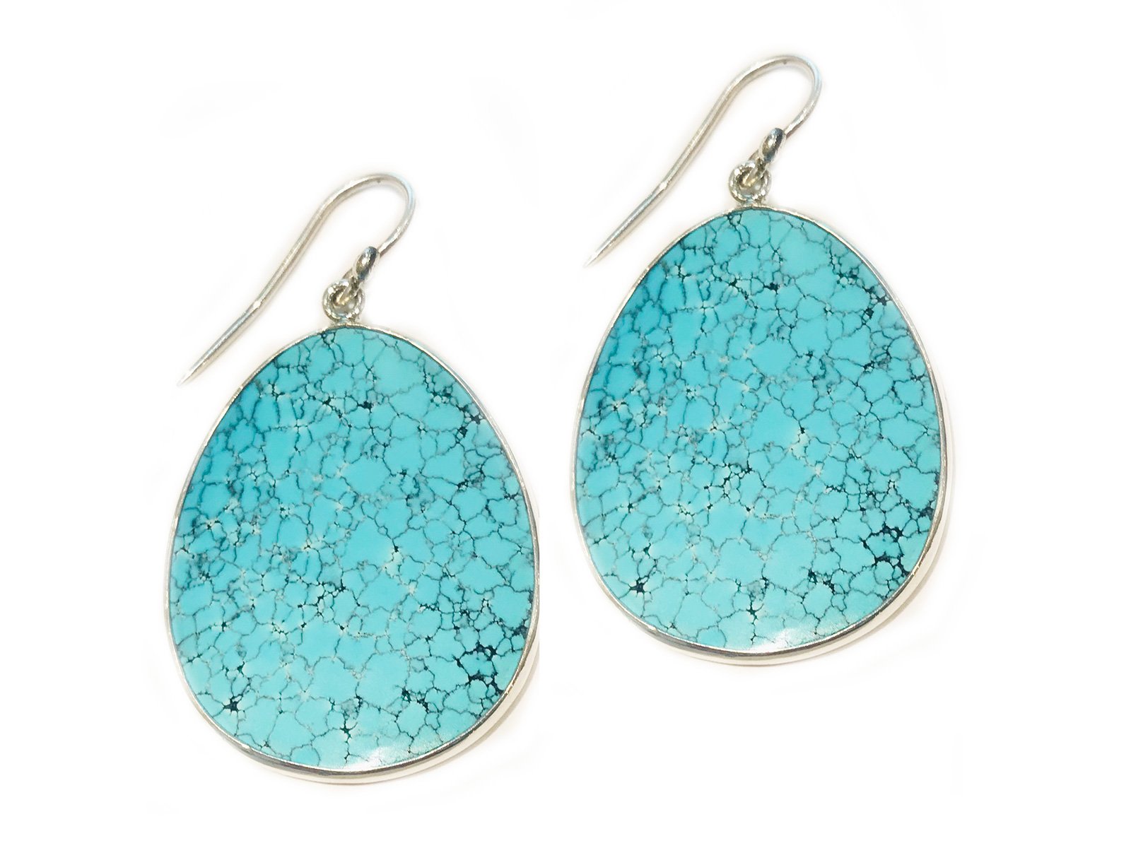 Slab Turquoise Earrings