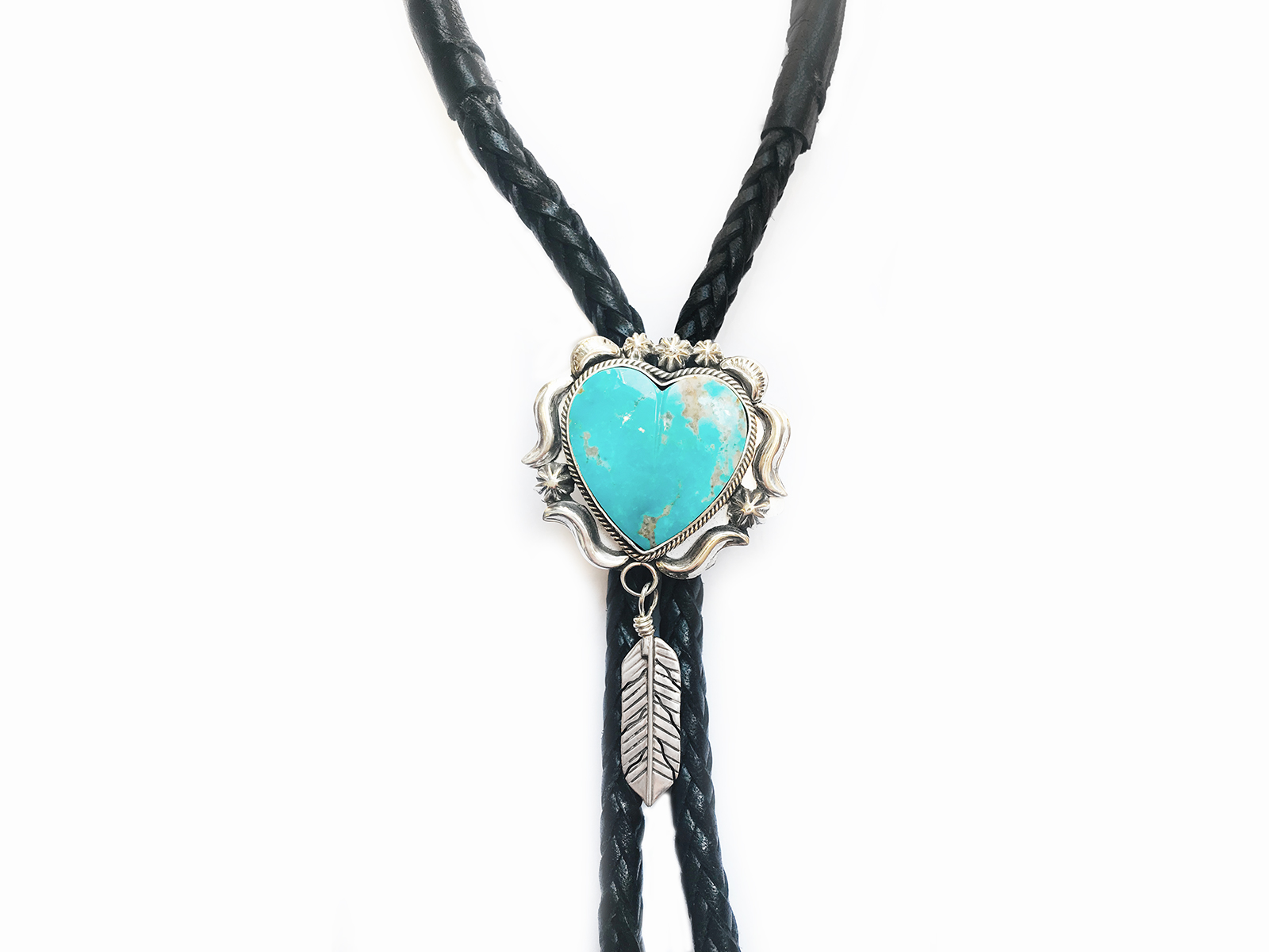 Turquoise Heart Bolo