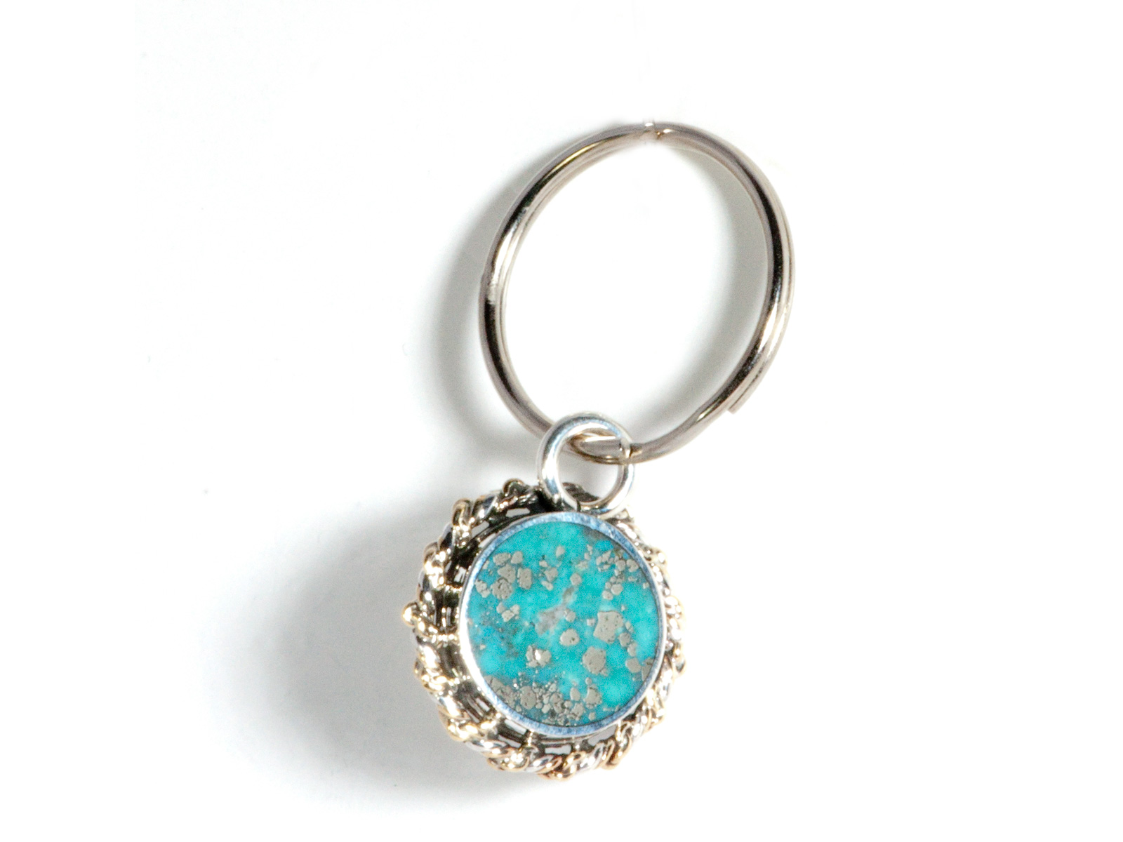 Turquoise Coin Key Chain