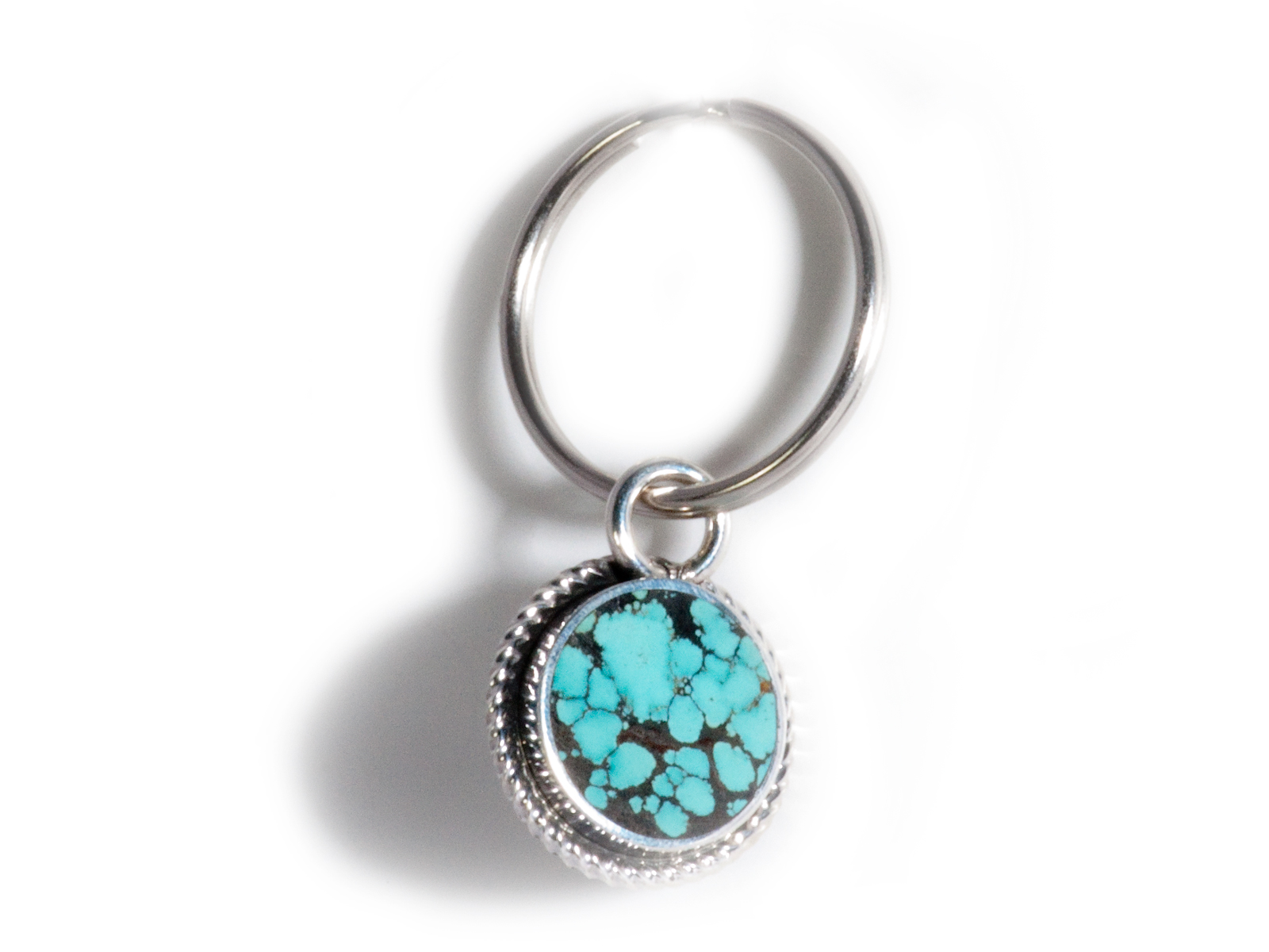 Matrixed Turquoise Key Chain