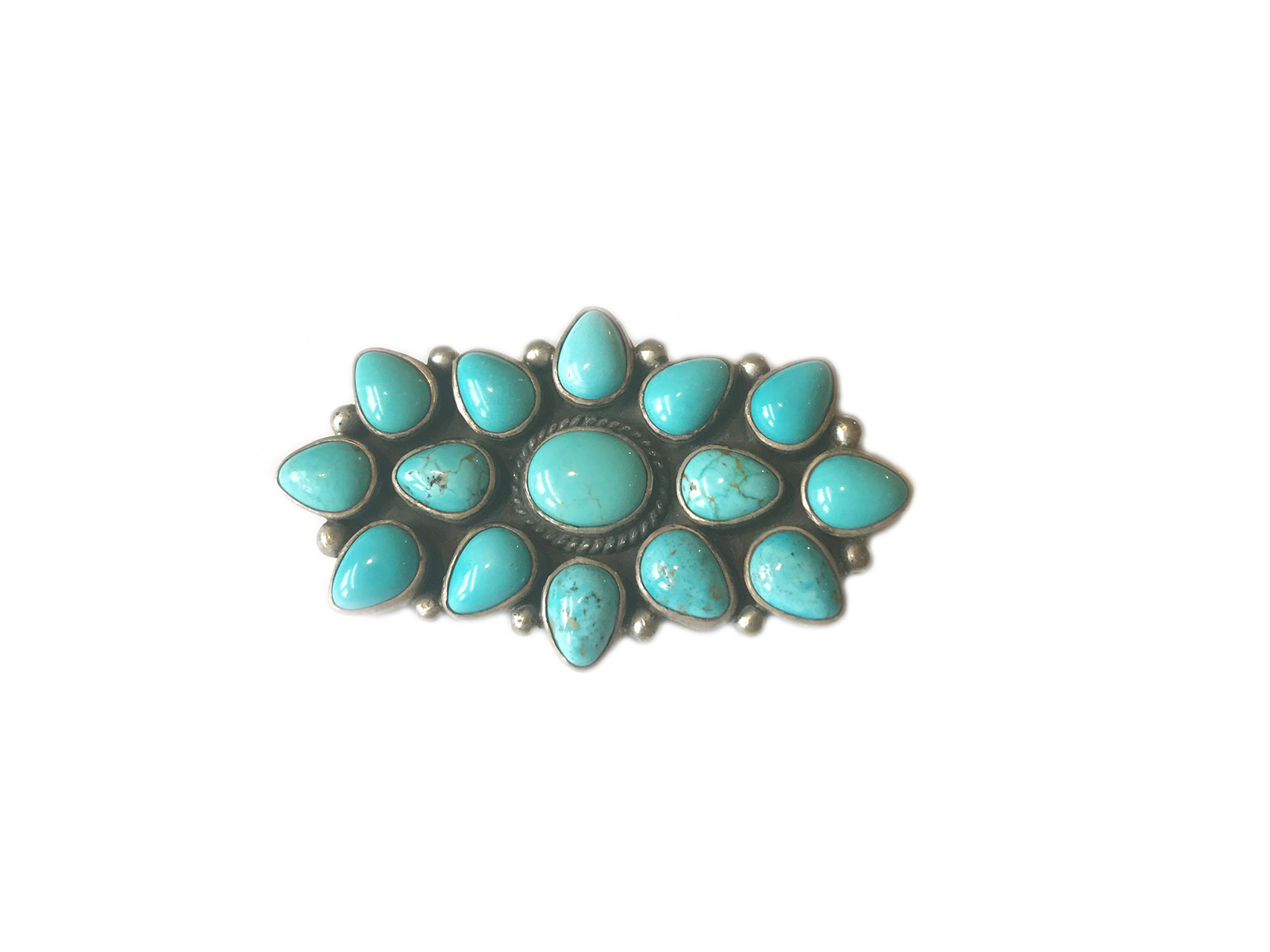 Number 8 Turquoise Pin Pendant
