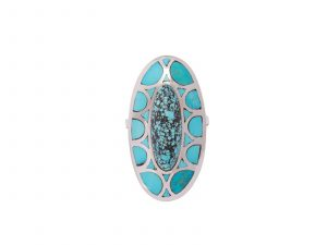 Natural Chinese Turquoise Oval Ring