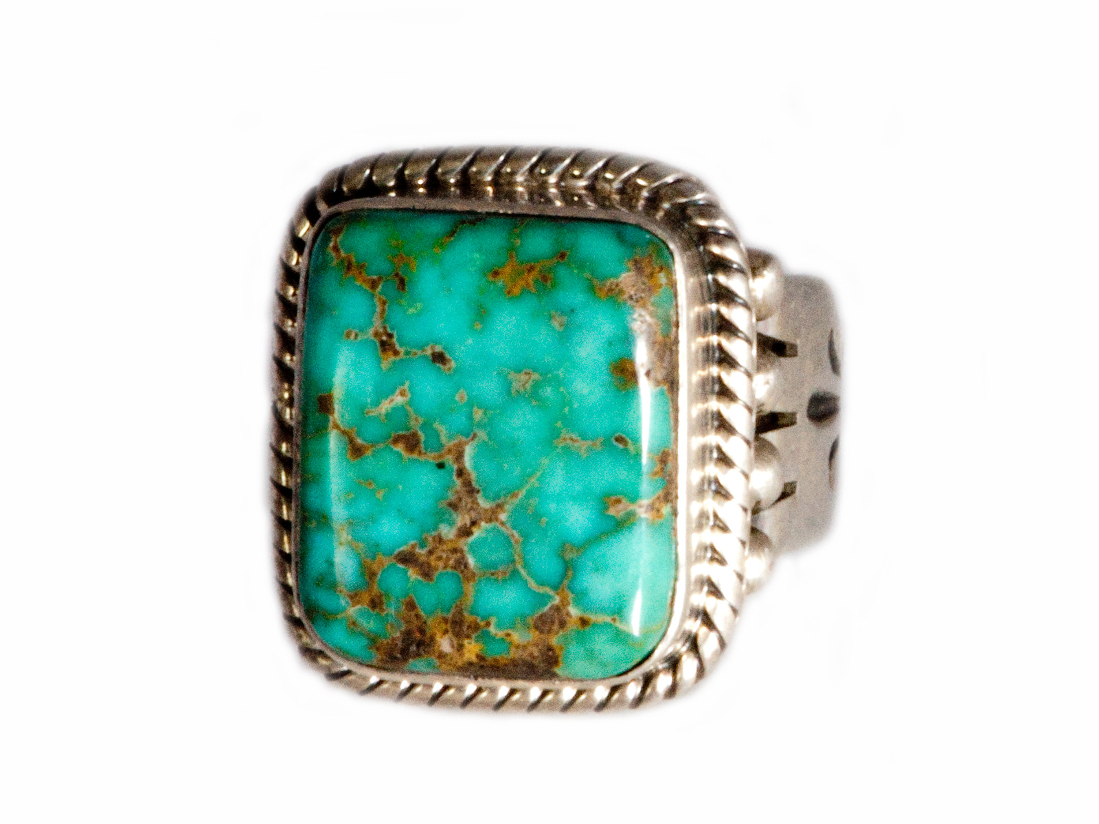 Blue Carico Lake Turquoise Ring