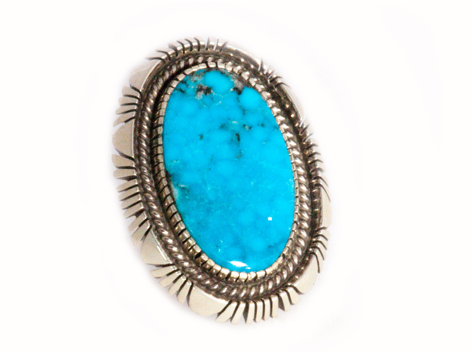 Native American Oval Turquoise Ring