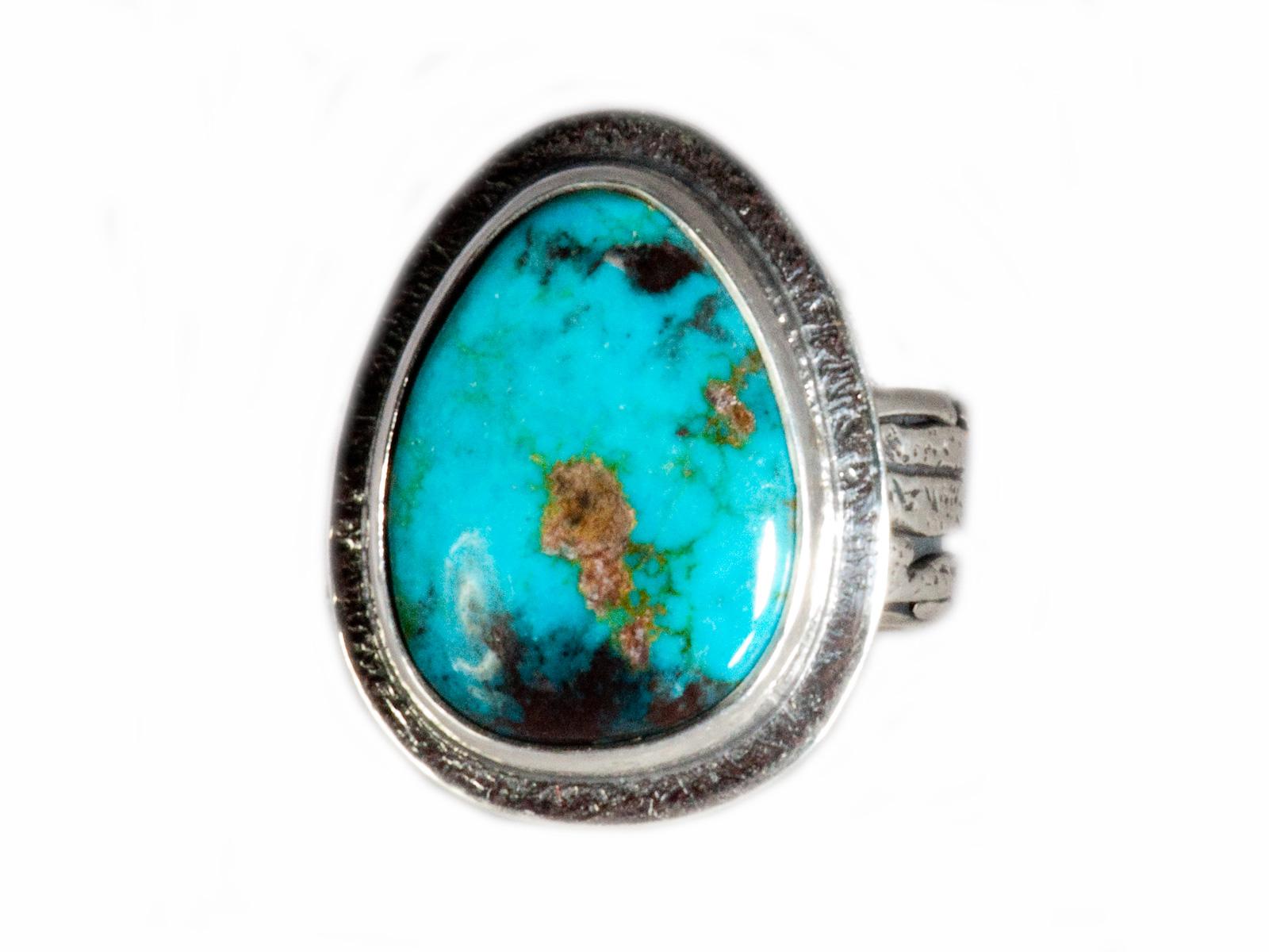 Handmade Natural Bisbee Turquoise Ring