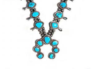 Vintage Morenci Turquoise Squash Blossom