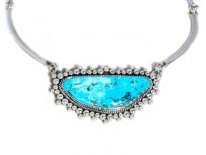 Morenci Turquoise Sterling Silver Necklace
