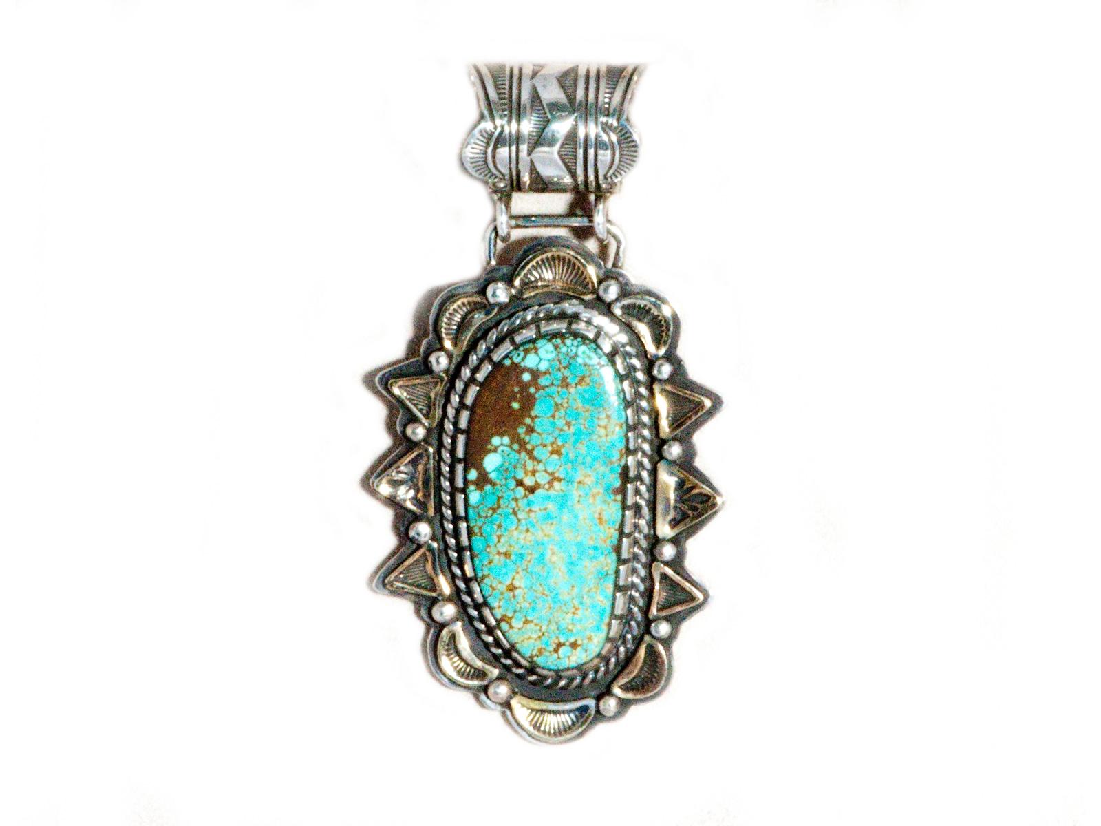 Indian Mountain Turquoise Pendant
