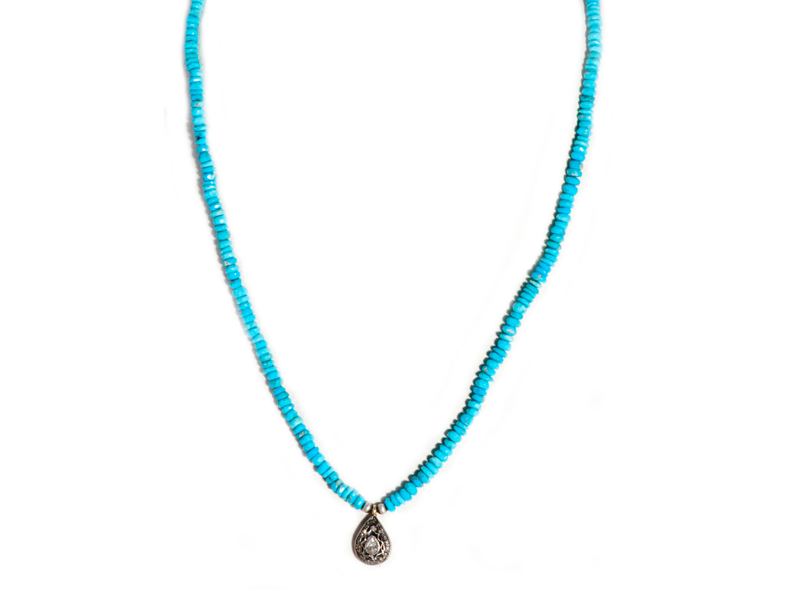 Sleeping Beauty Turquoise Diamond Necklace