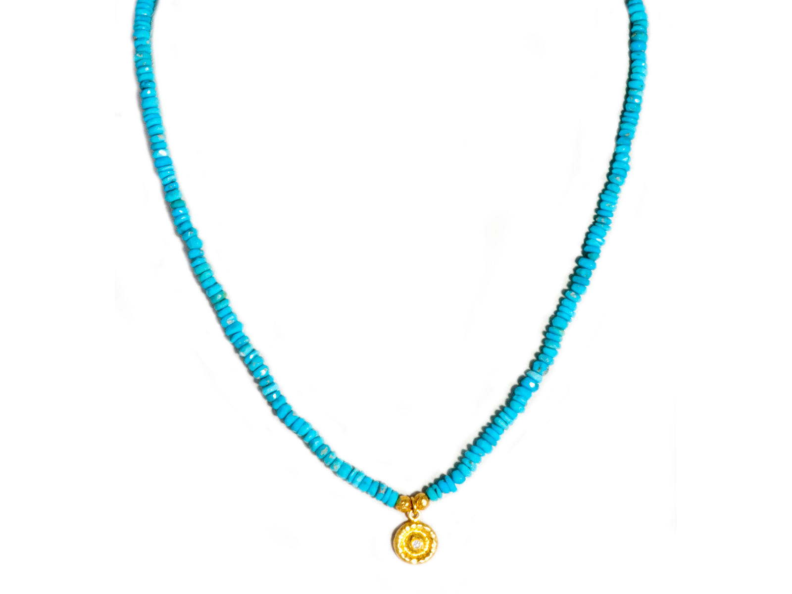 Single Strand Turquoise Diamond