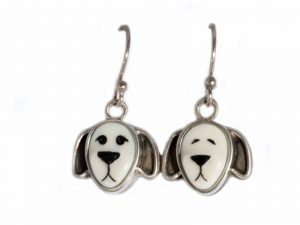 Floppy Eared Dog Dangle Earrings