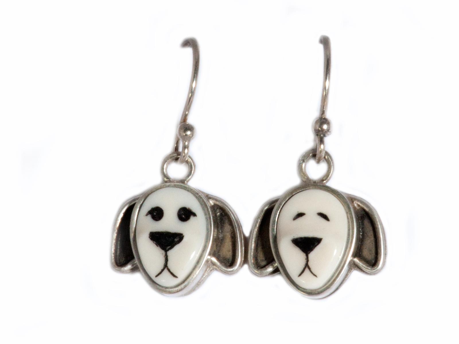Floppy Eared Dog Dangle Earrings
