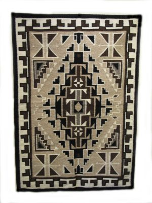 Two Grey Hills Navajo Weaving