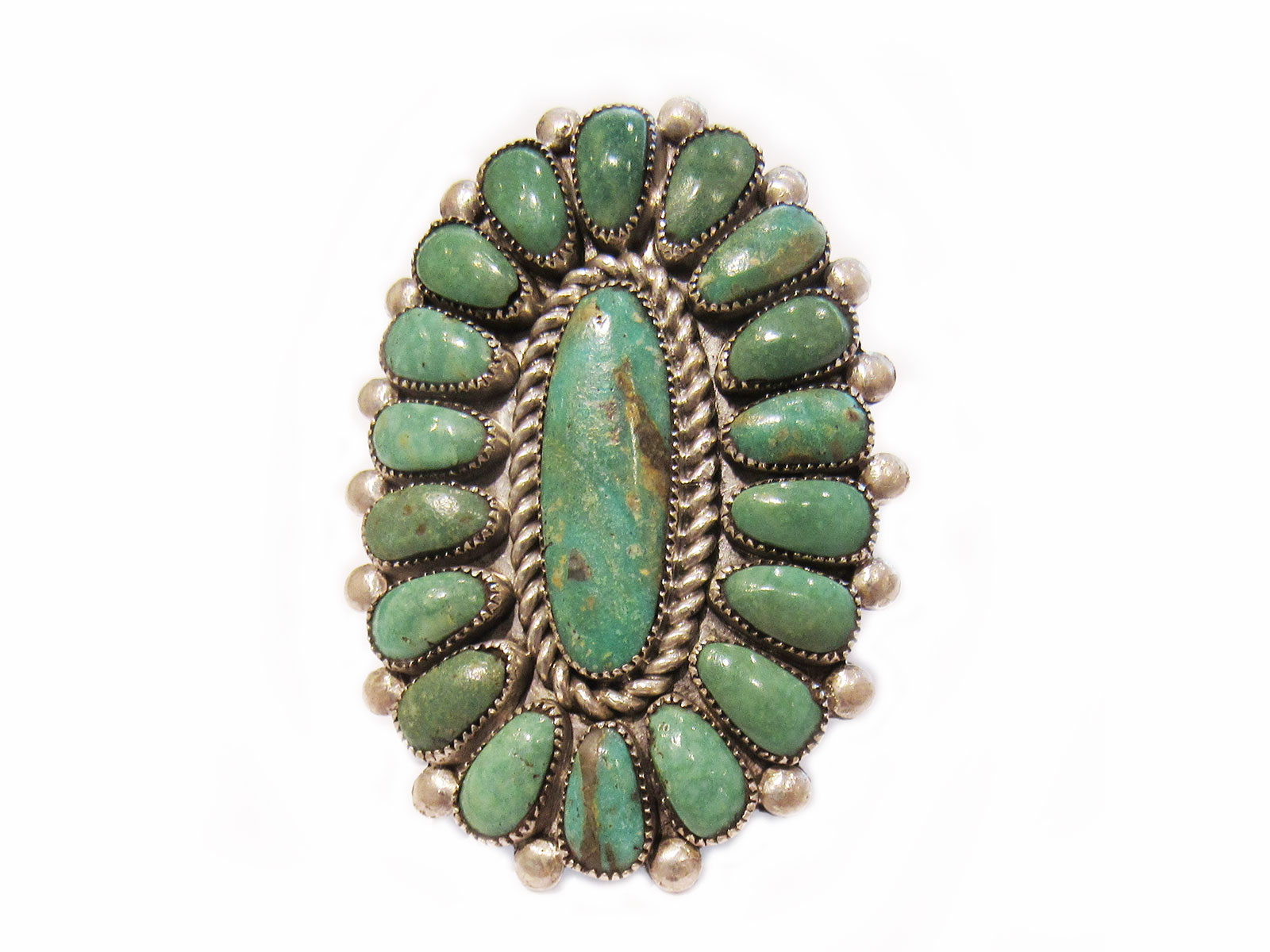 Nevada Green Turquoise Ring