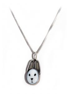 Rabbit Pendant on Sterling Silver Chain
