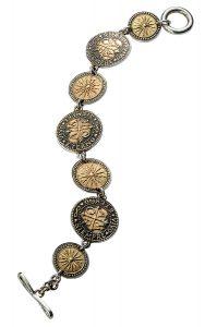 24k gold charm bracelet