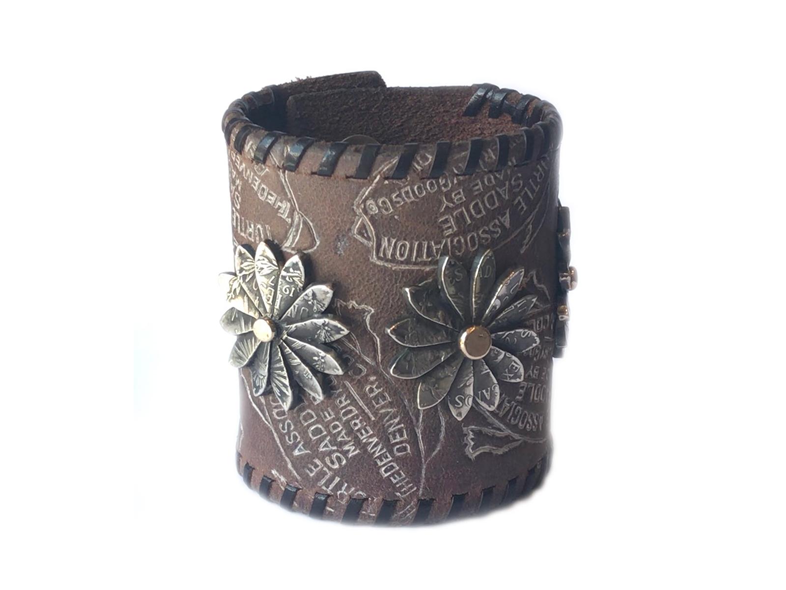 Wild Flower Leather Bracelet