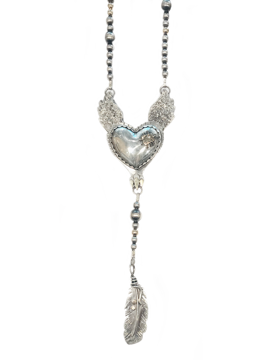 Winged Heart Rosary