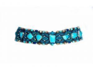Macrame Turquoise Choker Necklace
