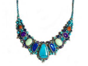 Macrame Multi Stone Necklace