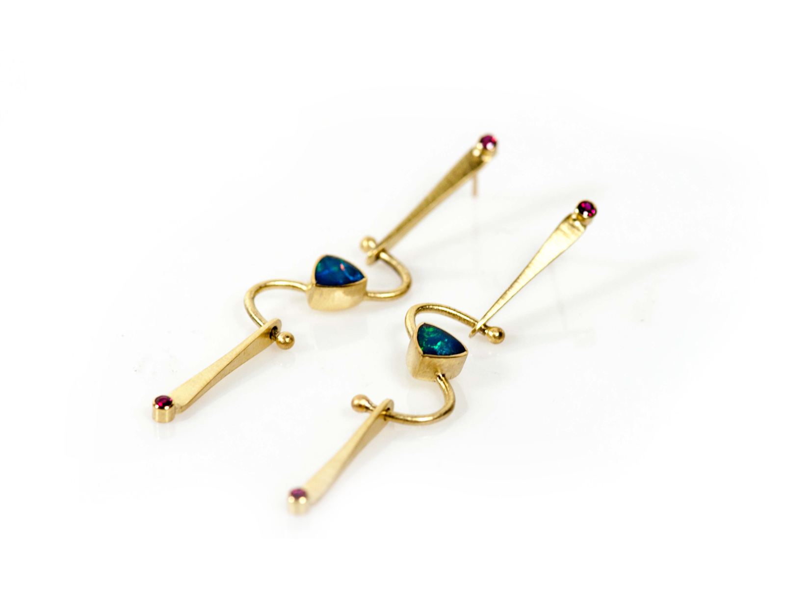 fish product hook store earrings drop earring fire opal blue elegant img that