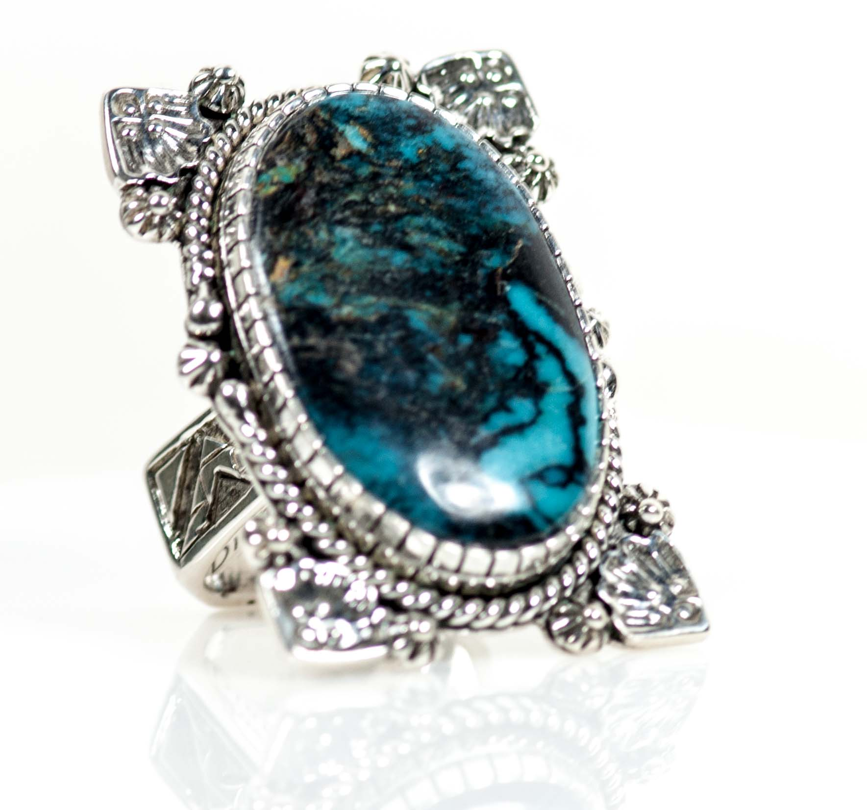 turquoise sapphire of blue nigaam white ring gold cocktail picture diamond and