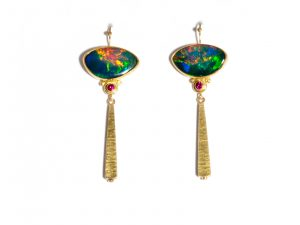 Opal Ruby Earrings