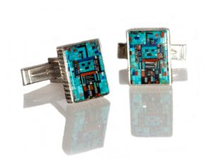 Inlay Yei Cuff Links