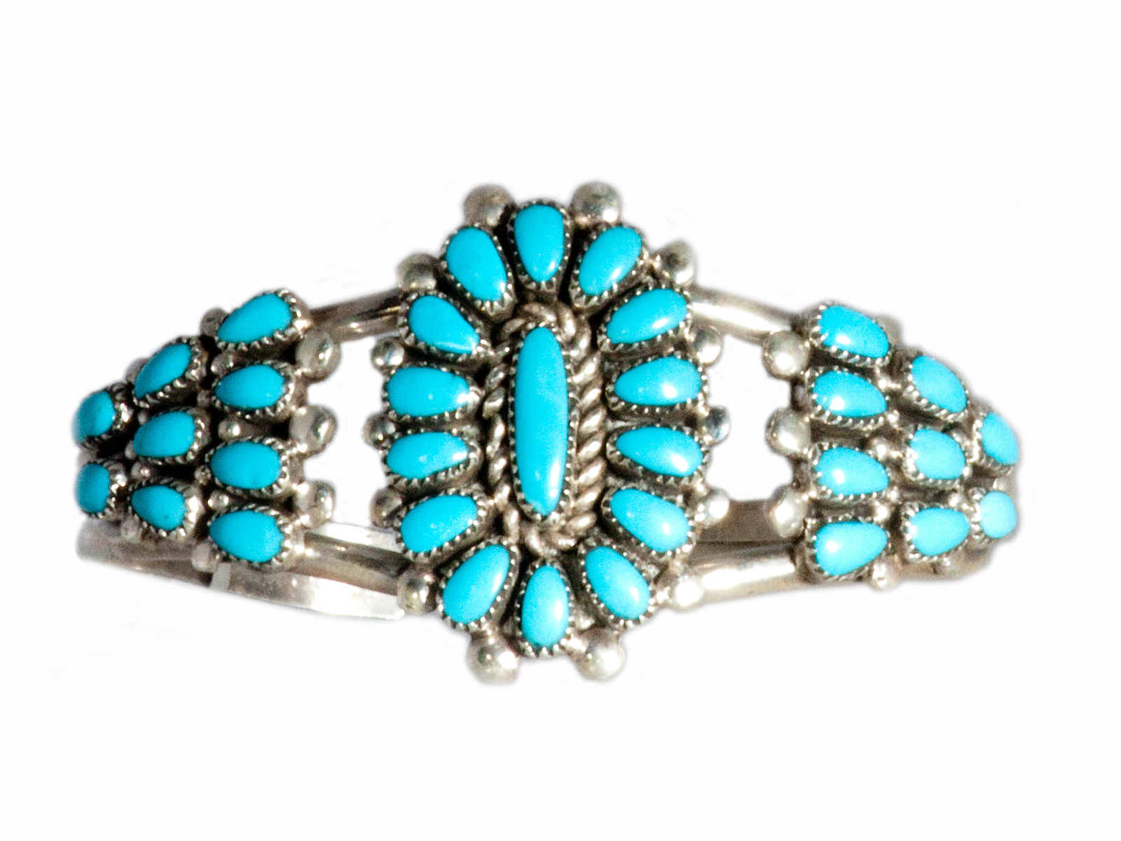 Sleeping Beauty Turquoise Cluster Cuff