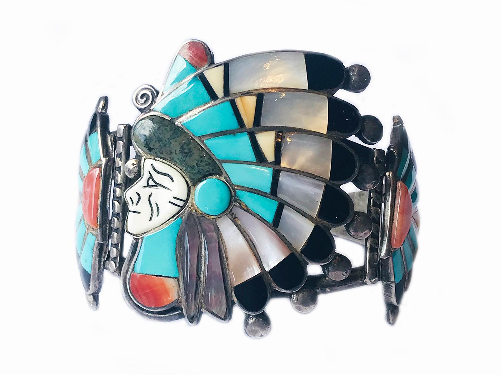 Zuni Inlay Headress Cuff