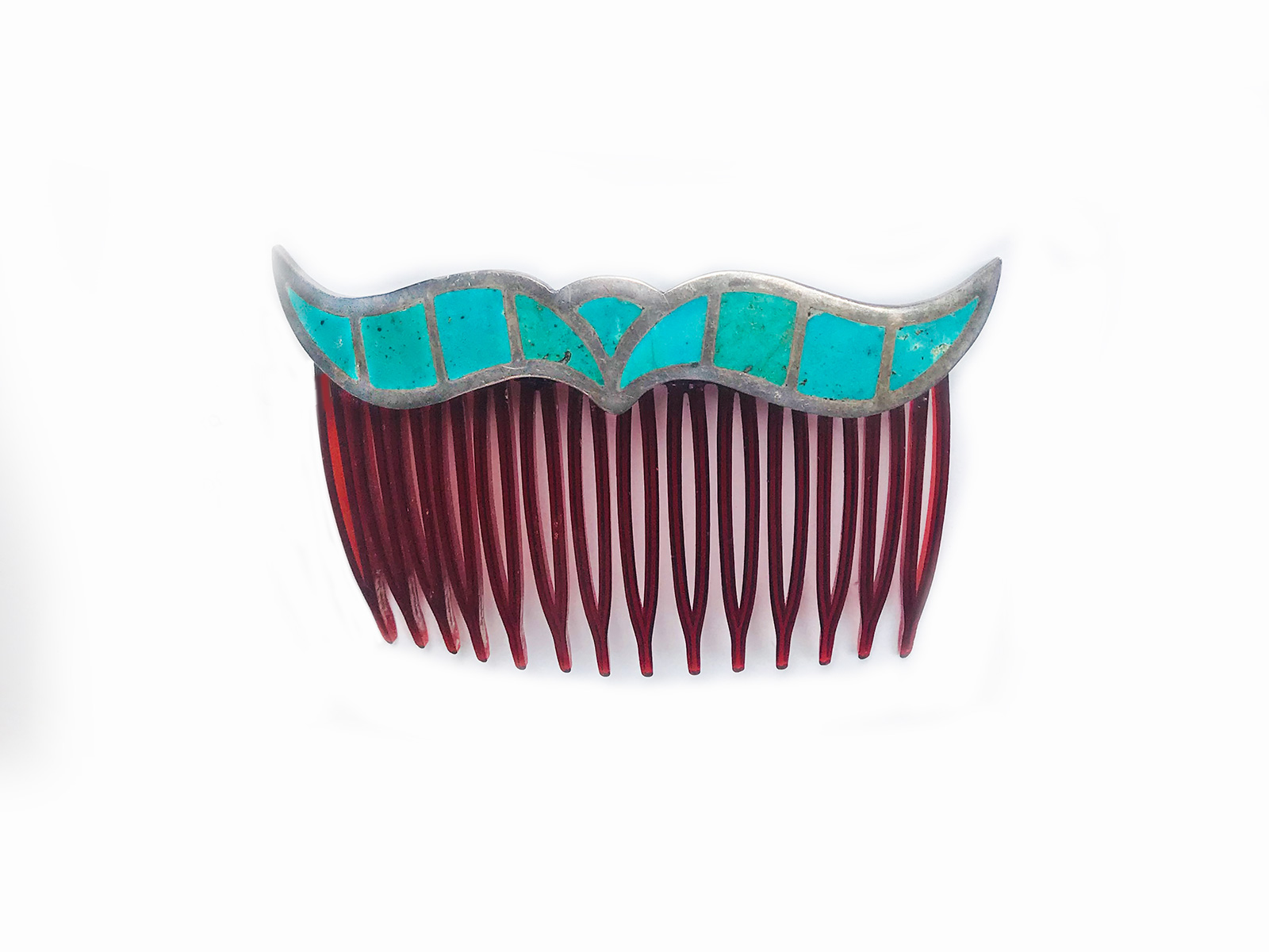 Turquoise Inlay Hair Comb
