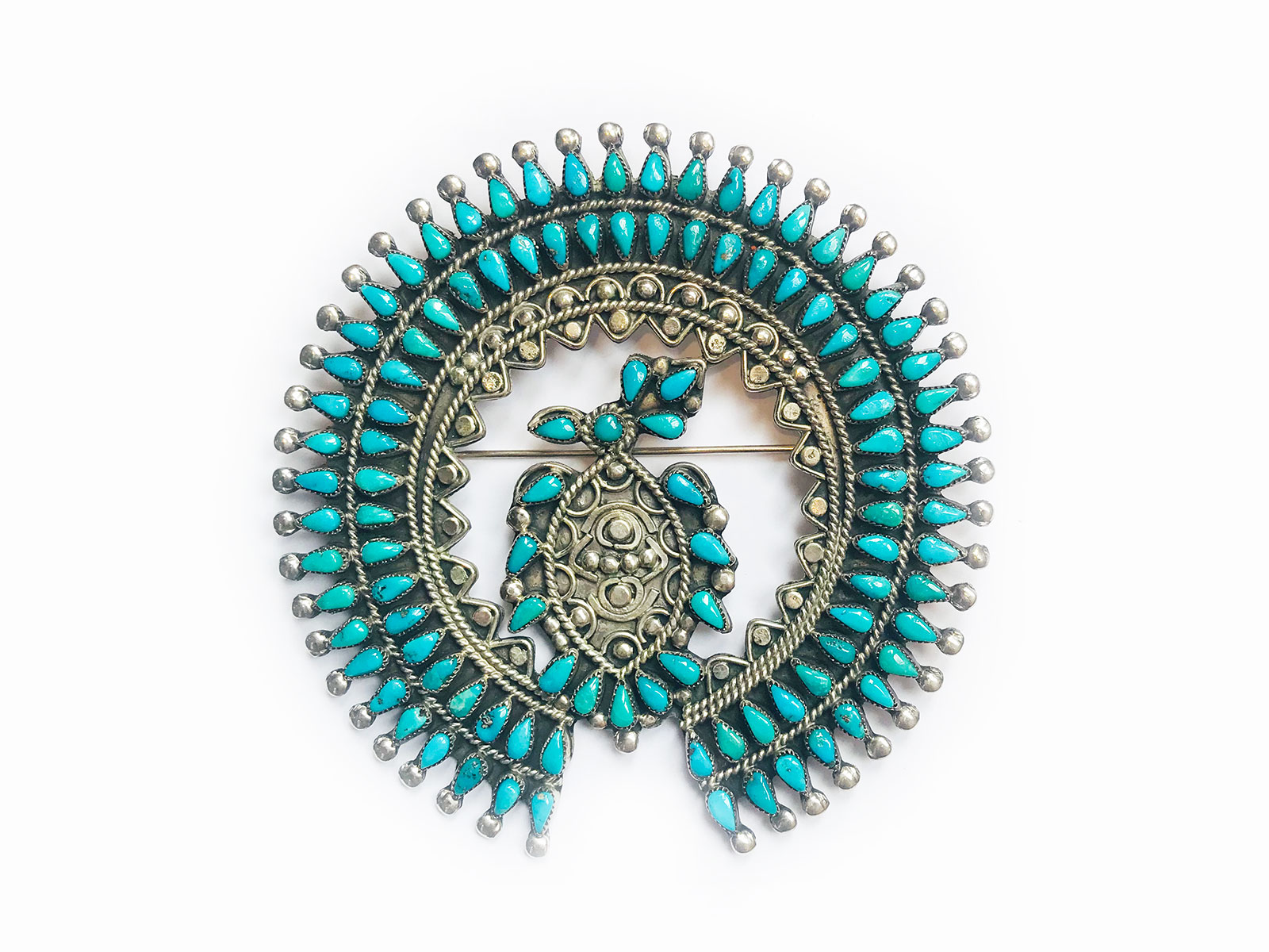Petit Point Turquoise Pin