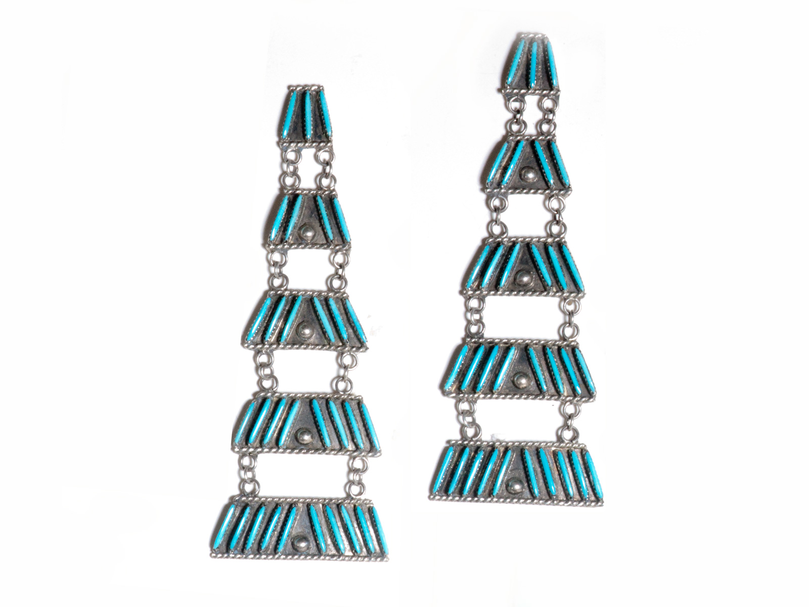 Zuni Sleeping Beauty Turquoise Earrings