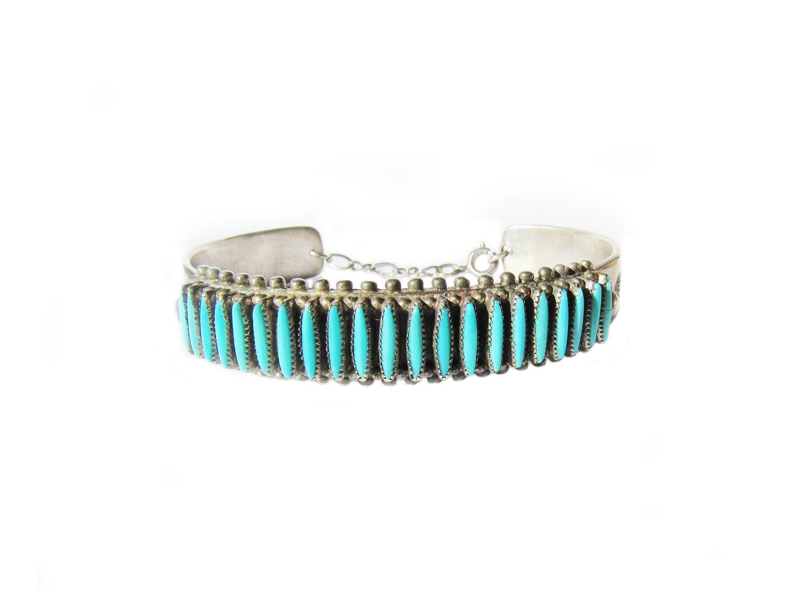 Needlepoint Turquoise Bracelet