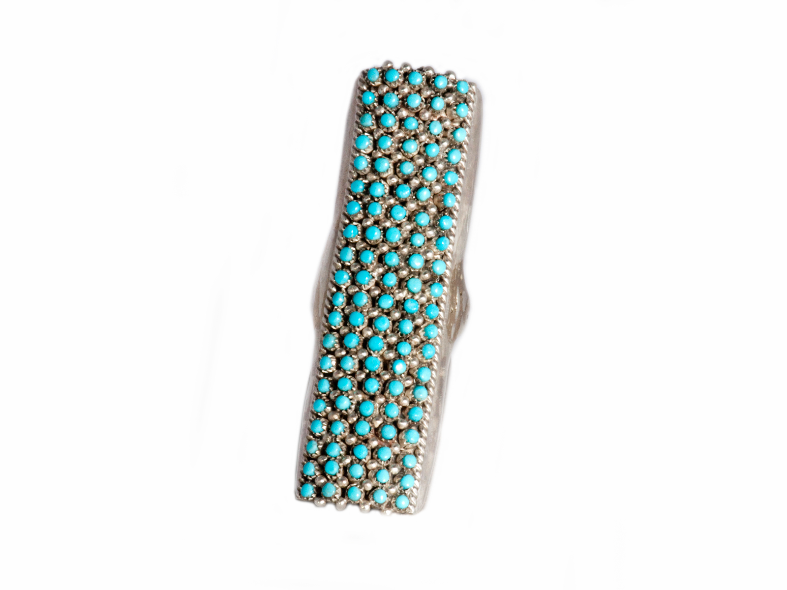 Long Snake Eye Turquoise Ring