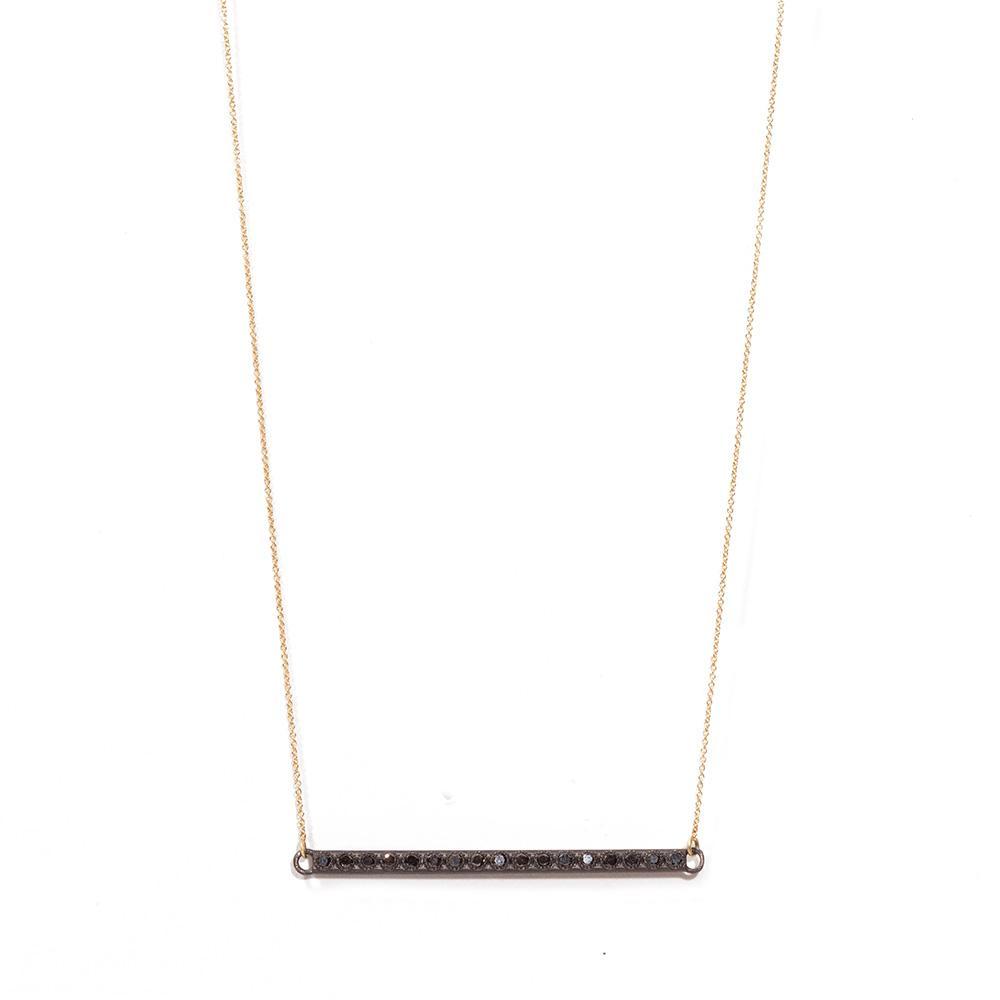 Black Diamond Bar Necklace