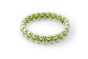 lime green suede bangle