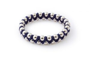 Navy Blue Suede Bangle