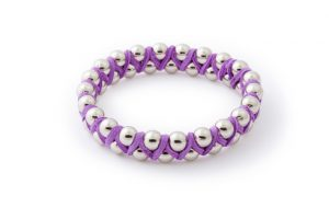 Purple Suede Bangle