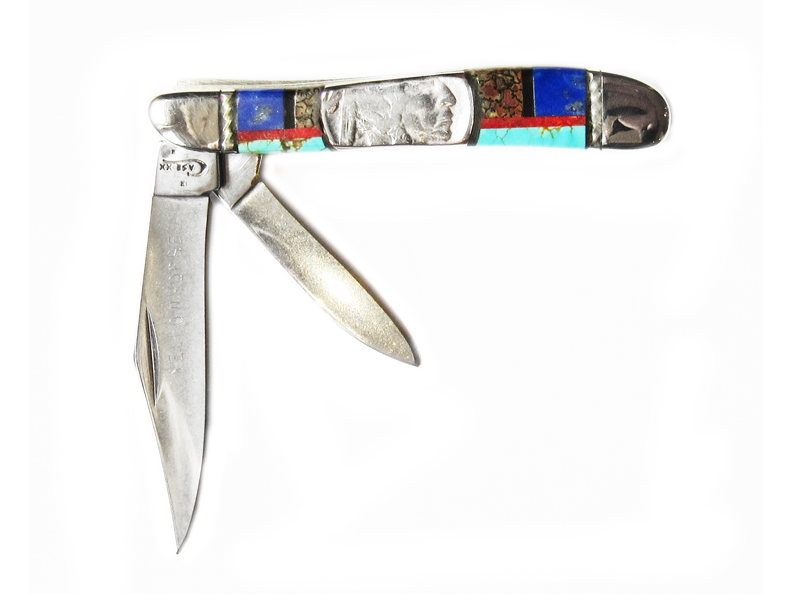 Coin Inlay Pocket Knife
