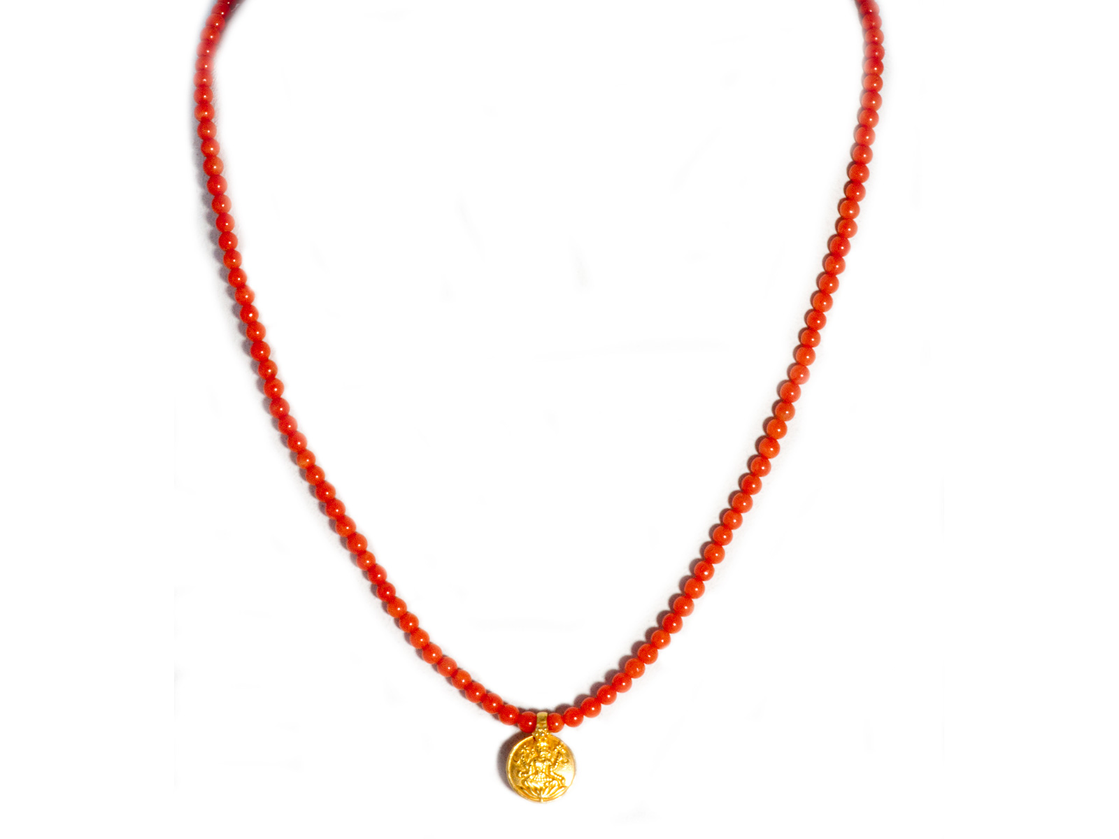 Ganesha Coral Necklace
