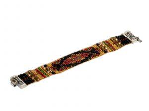 Black Gold Beaded Bracelet