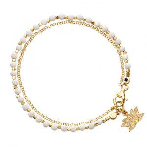White Agate Friendship Bracelet