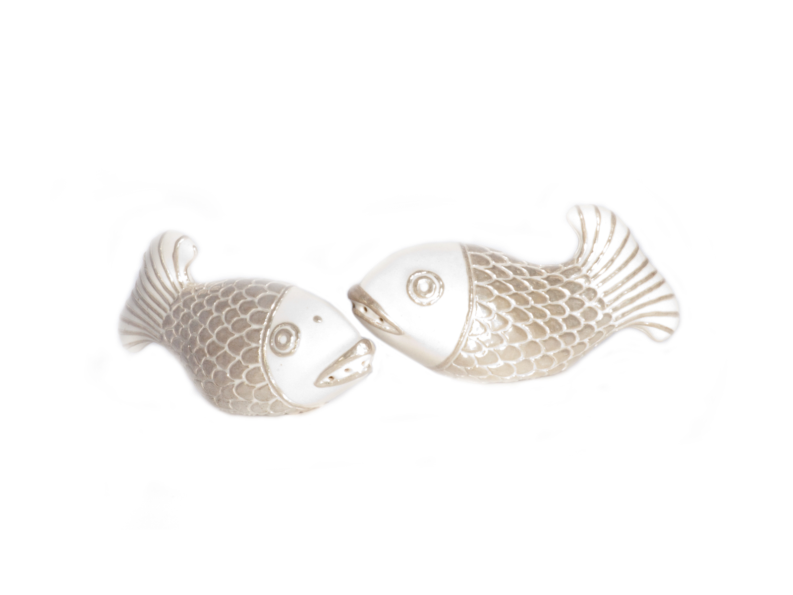 White Fish Salt Pepper Shakers