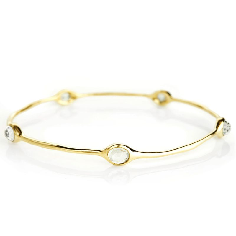 Rock Candy® 18K Gold 5-Stone Quartz Bangle