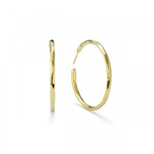 Glamazon® 18K Gold Faceted #3 Hoop Earrings