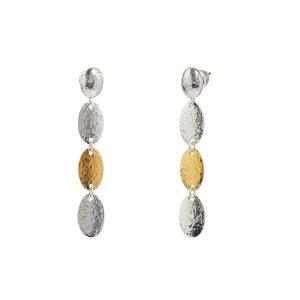 Triple Drop Sterling Silver Earrings