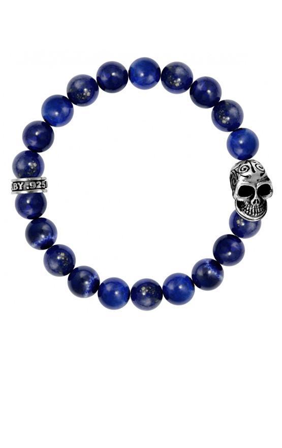Skull Lapis Bracelet