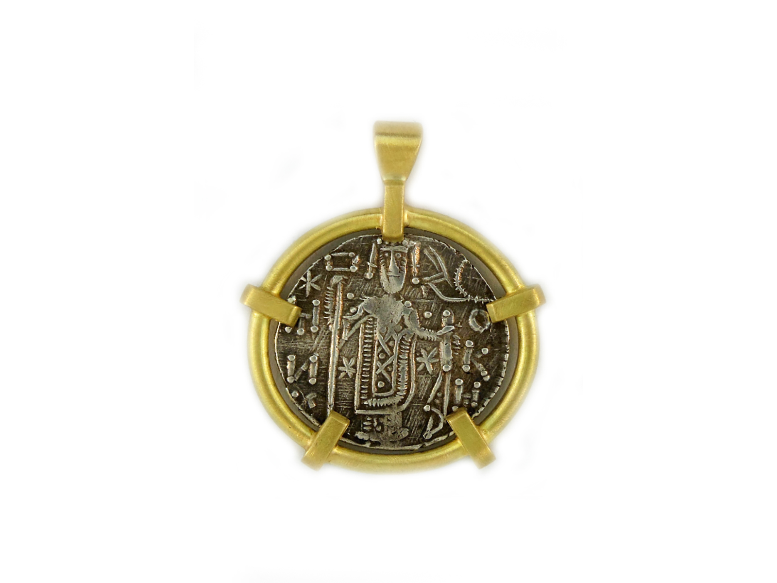 Gold Silver Manuel I Coin Pendant